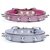 Spiked Leather Small Dog Collars