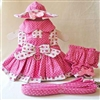 Candy Pink Small Dog Harness Dress