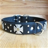 First Crusade Leather Large Dog Collar