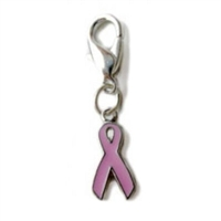 Pink Ribbon Breast Cancer Awareness dog cat collar charm