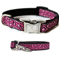 Pink Cheetah Print Dog Cat Collar