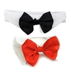 Formal Dog Bow Tie and Collar | black or red bow tie