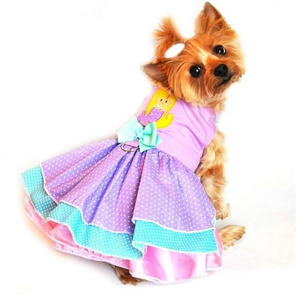 Polka Dog Mermaid Small Dog Dress