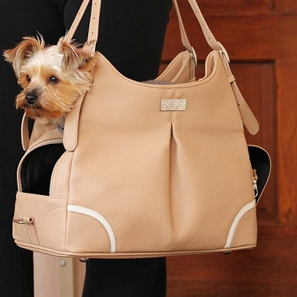 Madison Mia Michele Mocha Dog Purse Carrier