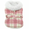 Designer Dog Coat | Pink and White Plaid