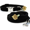 Black Velvet Small Dog and Cat Collars| Formal Affair