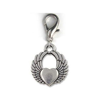 Winged Heart Dog Cat Collar Charms