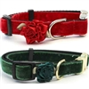 Christmas Velvet Small Dog Cat Collars