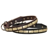Plated Beauty Leather Dog Collars
