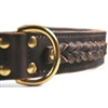 Braided Heaven Genuine Leather Dog Collar