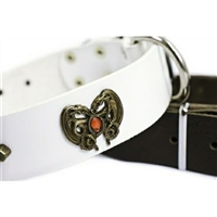 Dragon Heart Leather Designer Dog Collar