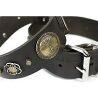 Gaia Leather Large Dog Collar