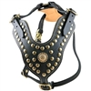 The Royal Stud Full Grain Leather Dog Harness