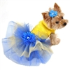 Blue Daisies Designer Small Dog Dress