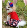 American Pooch Patriotic Ruffled Designer Dog Dress