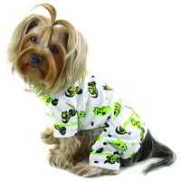 Flannel Dog Pajamas | Happy Dinosaurs