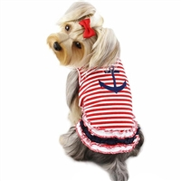Sailor Shirt with Ruffles for Small Dogs