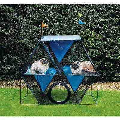 Outdoor Cat Enclosure | Kittywalk Ferris Wheel Outdoor Enclosure