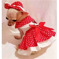 Little Lady Small Dog Harness Dress Set