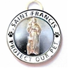 St. Francis Dog Cat Collar Charm