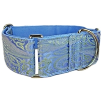 Lavender Paisley Silk Martingale Dog Collar