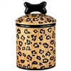 Leopard Print Ceramic Dog Treat Jar
