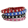 Rhinestone Bling Small Dog Collars | Leather