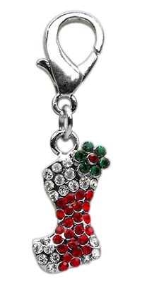 Christmas Stocking Dangling Dog Cat Collar Charm