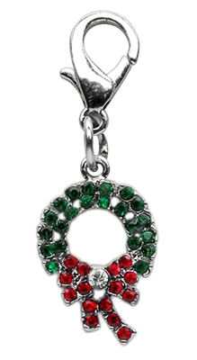 Dog tags | Christmas Wreath Dangling Pet Collar Charm