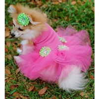 Hot Pink Party Designer Small Dog Dresss