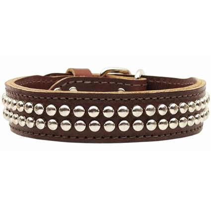 Detroit Leather Studded Dog Collars