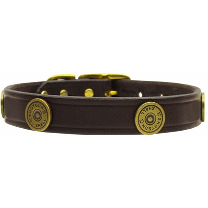 Shotgun Shell Leather Dog Collar | MR82-06