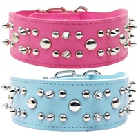 Foxy Rodeo Spiked Leather Dog Collars
