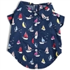 Blue Sailboat Dog Shirt | Cotton