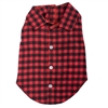 Flannel Dog Shirt | Red Buffalo Plaid