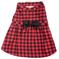 Flannel Dog Dress | Red Buffalo Plaid