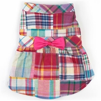 Bright Summer Plaid Dog Dress