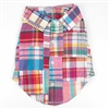 Bright Summer Plaid Dog Shirt