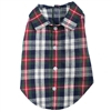 Flannel Dog Shirt | Navy Blue Plaid