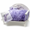 Lavender Shag Dog Cat Day Bed