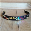 Rhinestone Stardust Leather Dog Collar