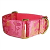 Pink Dragons Martingale Greyhound Dog Collar