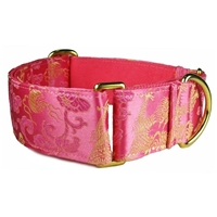 Pink Dragons Silk Martingale Lupine Sighthound Collar