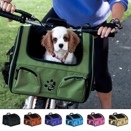 3-In-1 Dog Cat Bicycle Basket