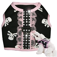 Lacy Skull Small Dog Harness