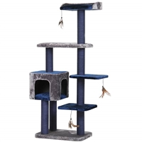 Midnight Blue Cat Tree