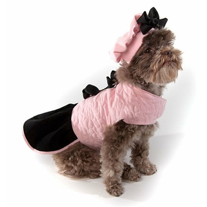 Pink Quilted Designer Dog Coat | The Doggie Market