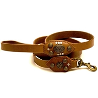 Royal Antique Leather Dog Leash