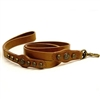 Royal Antique Studded Leather Dog Leash