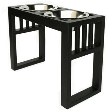 Raised dog bowls | Libro Double Dog Bowl Feeder